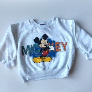 Vintage Mickey Mouse Sweatshirt * 2 Toddler
